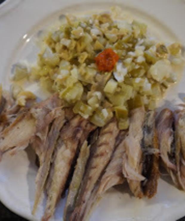 Wędzona makrela z ogórkową salsą - Na zimno