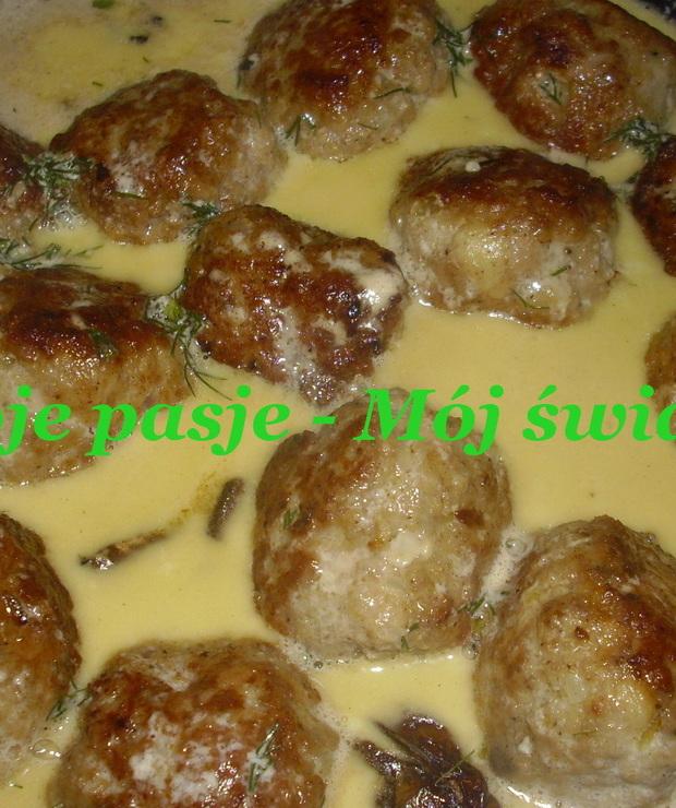 Klopsiki w sosie grzybowym - Wieprzowina