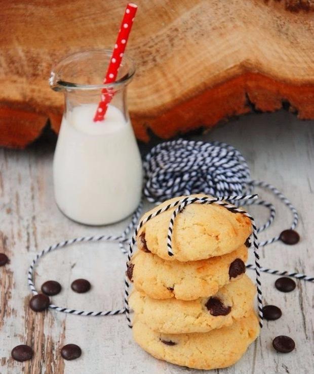 Ciasteczka kokosowe z czekoladą - Ciastka
