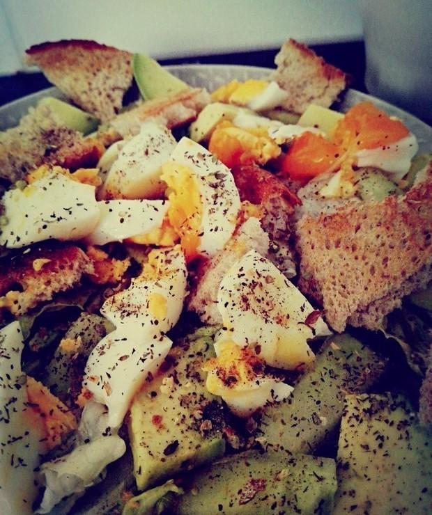 Zielona sałatka  z jajkiem - Jarskie