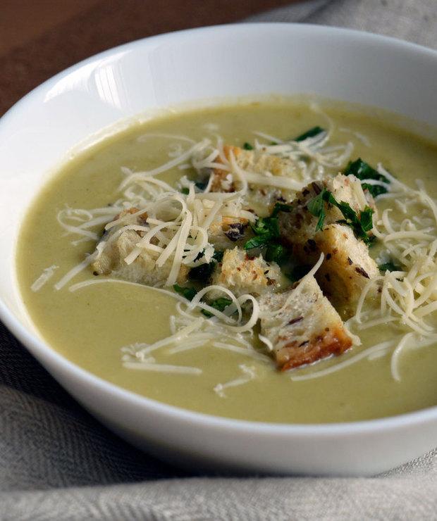 Zielona zupa krem - Z warzywami