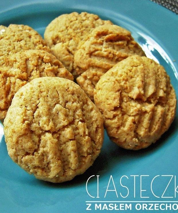 Ciasteczka z masłem orzechowym - Ciastka