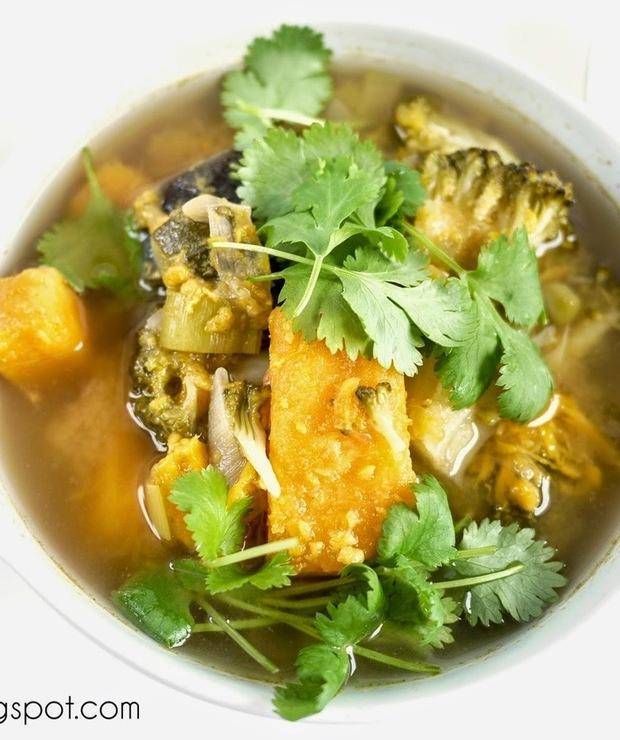 Zupa curry z batatem - Z warzywami