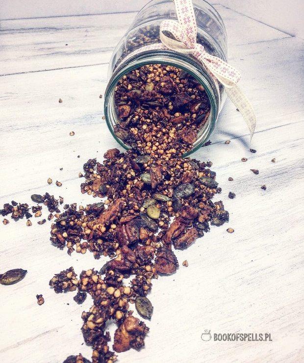 Czekoladowa granola gryczana (bez płatków owsianych) - Musli i podobne