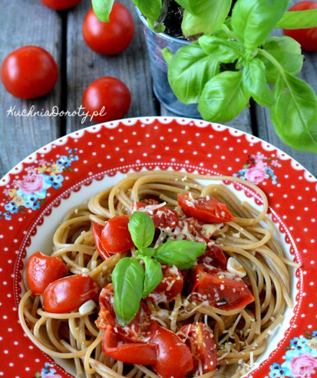 Makaron zpomidorami zjednego garnka w10 min. - Dania z makaronu