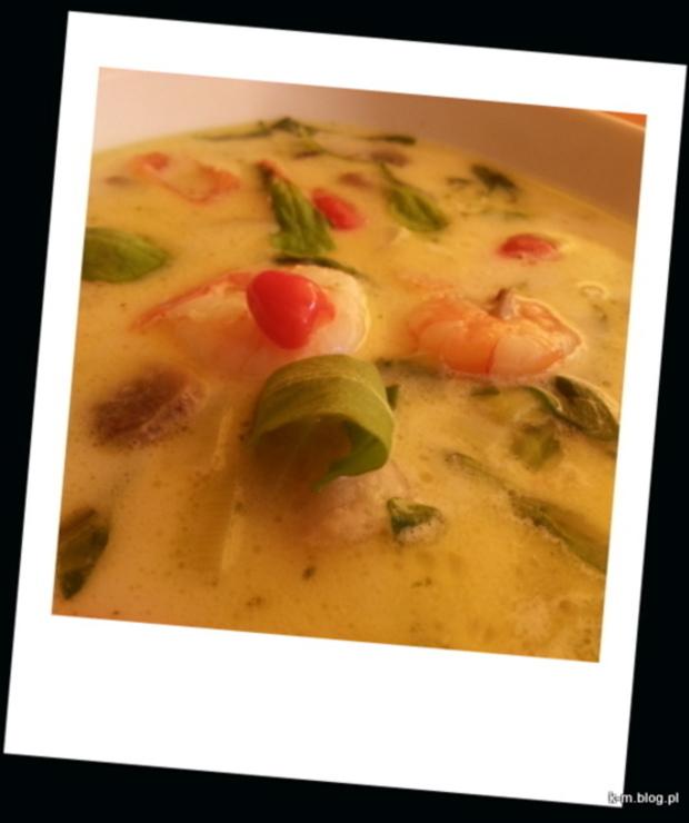 Zupa tajska z krewetkami! - Z mięsem