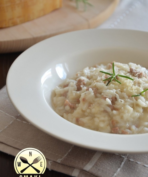Rozmarynowe risotto z wieprzowiną - Dania z ryżu i kaszy