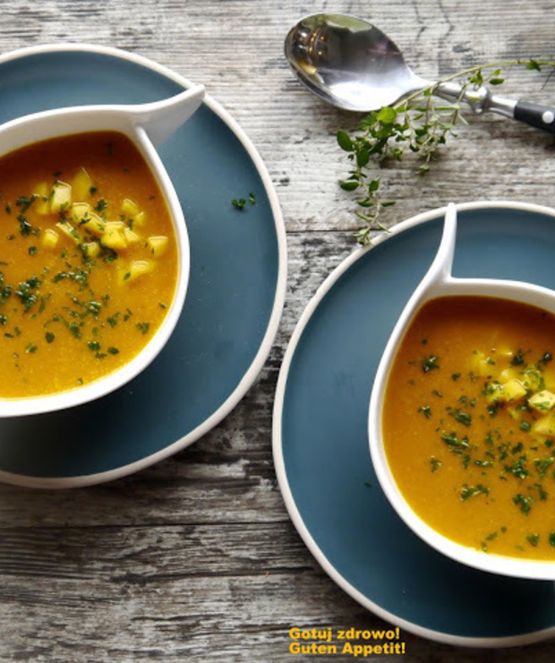 Zupa z dynii i mango. Super fit - Kremy