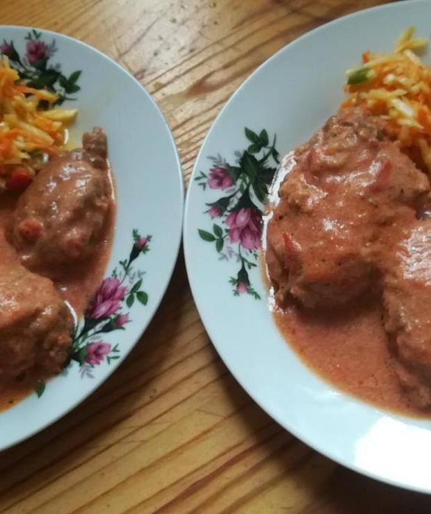 Mielone  a'la gołąbki – miały być gołąbki a przez pomyłkę jednego składnika którego miało nie być, wyszedł całkiem smaczny obiad - Inne