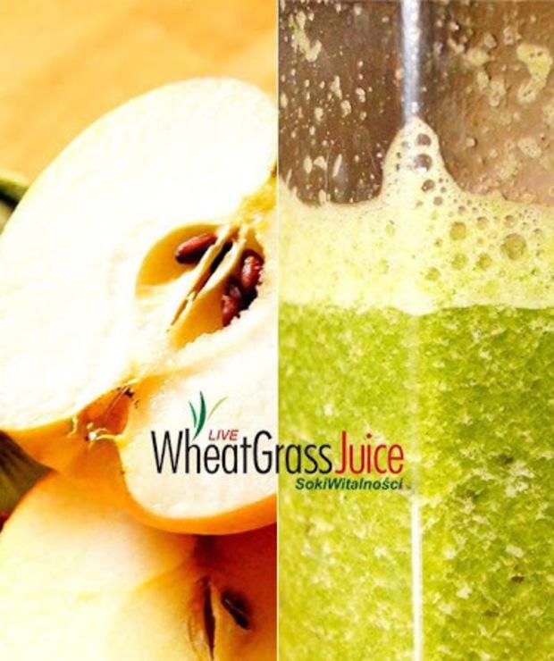 jabłko + kiwi + sok z trawy - Zimne