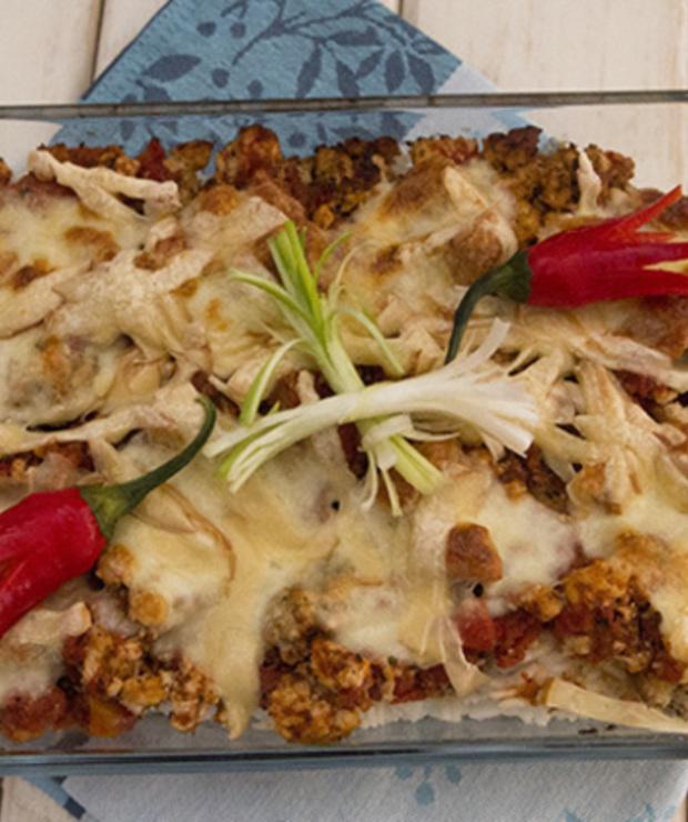 Zapiekanka z ryżem i papryczką chili - Dania z ryżu i kaszy