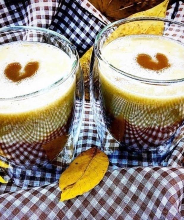 mleko owsiane + banan + wanilia + karob - Zimne