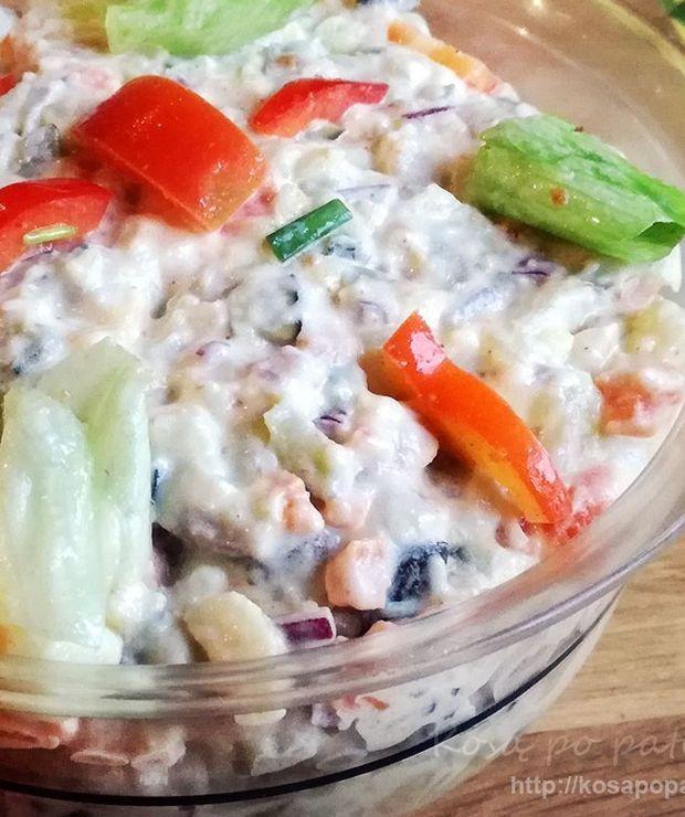 Sałatka warzywna ze śledziem i ziemniakami - Jarskie