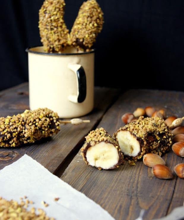 Banany w czekoladzie z orzechami  - Inne