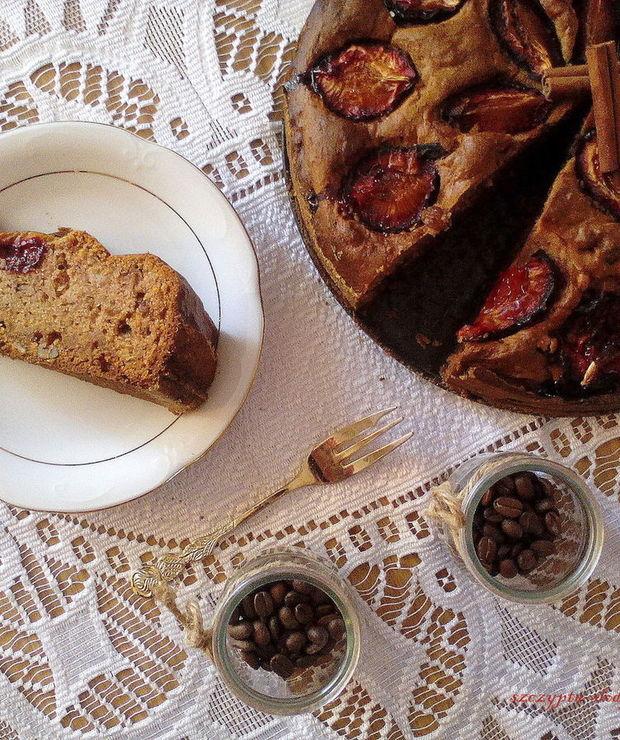 Ciasto dyniowe ze śliwkami - Ucierane