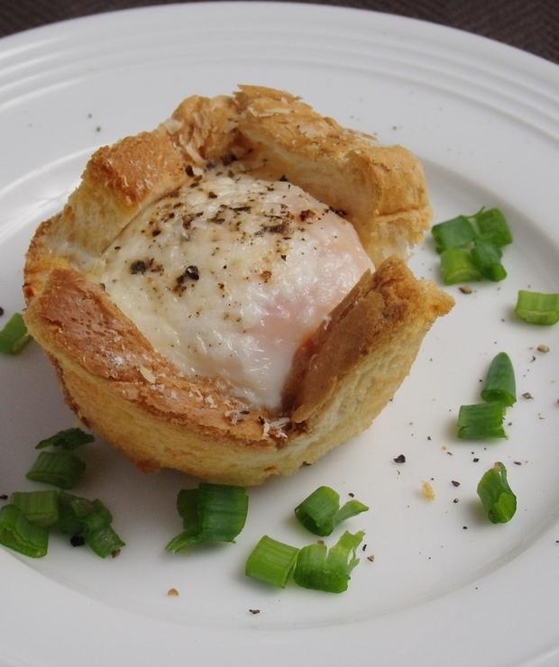 Croque madame w wersji muffinkowej - Jajka i omlety