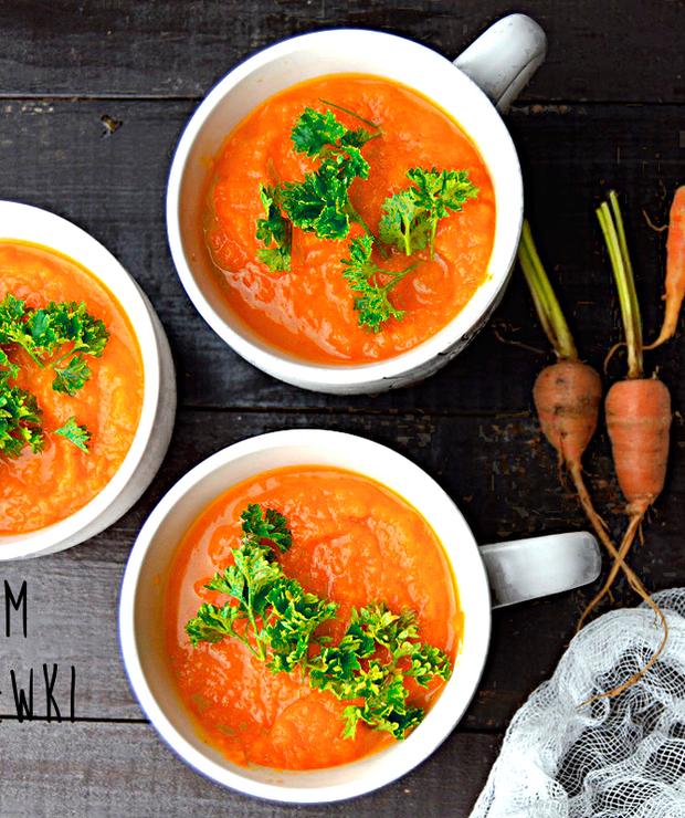 Aromatycznie doprawiona zupa krem z marchewki – bogactwo witamin - Kremy