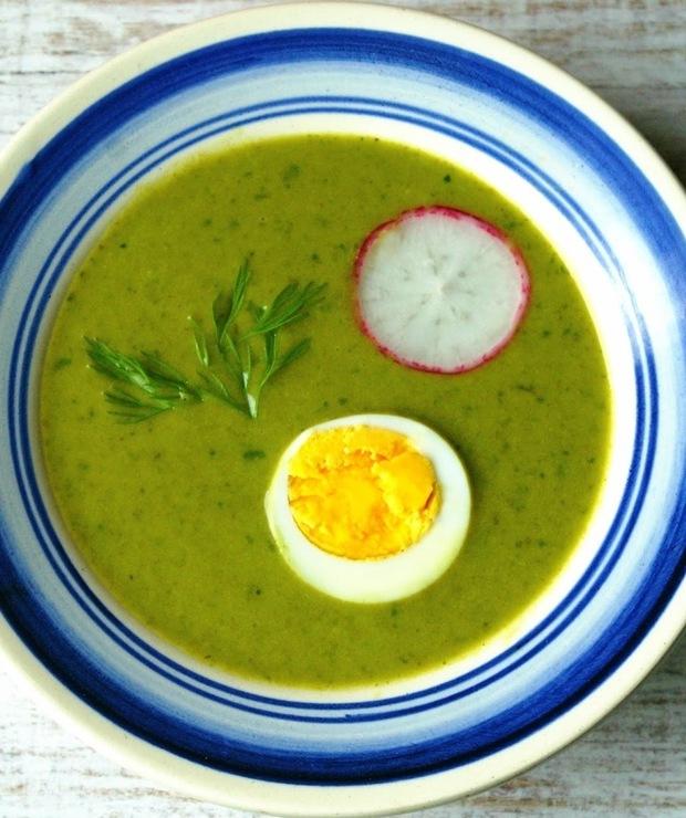 Neunkräutersuppe. Wielkanocna zupa ziołowa. - Kremy