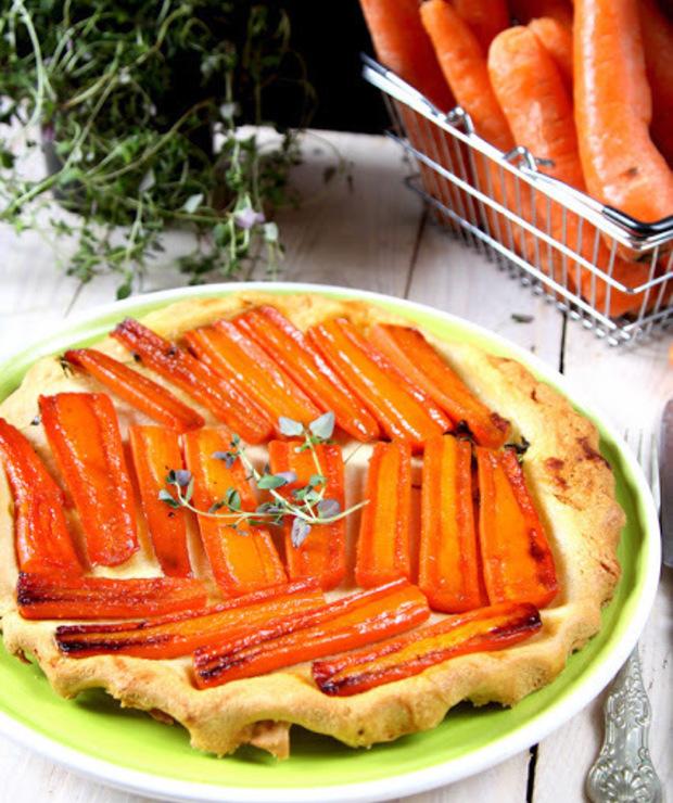 Tarta z marchewką - Tarty wytrawne