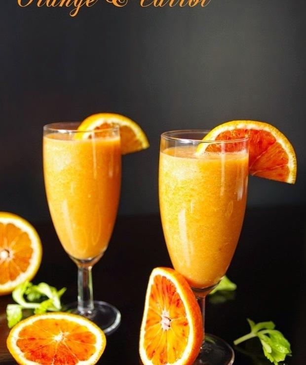 Koktajl pomarańczowo-marchewkowy - Zimne
