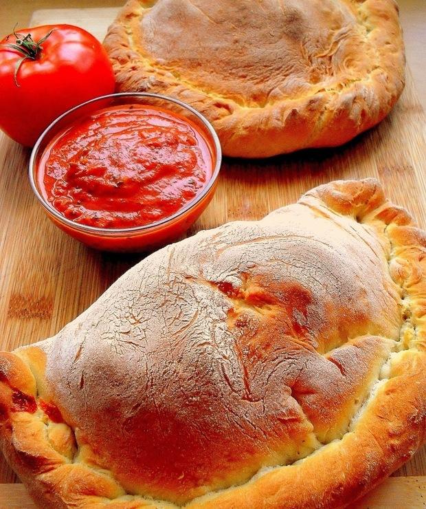 Calzone z porem i boczkiem - Pizza i calzone