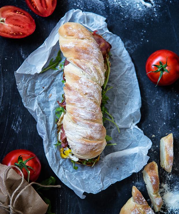 Kanapka drwala; z bekonem i jajkiem - Kanapki i tosty