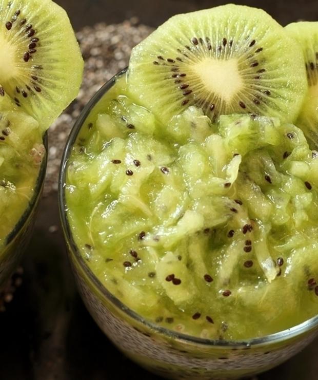 Pudding chia z kiwi - Musli i podobne