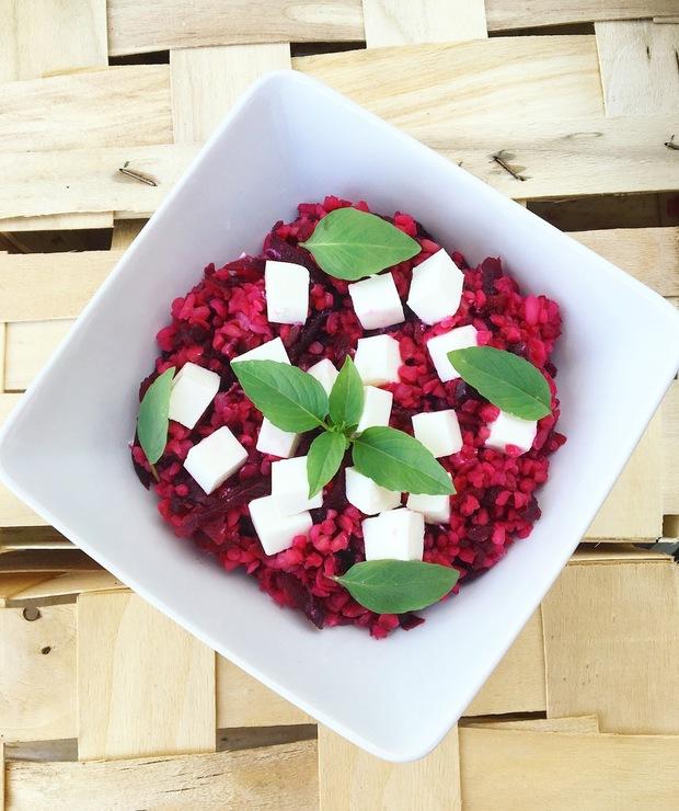 Kasza bulgur z burakami i fetą - Dania z ryżu i kaszy