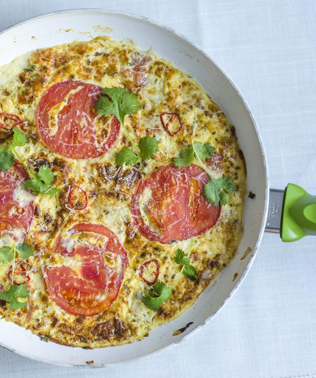 Frittata z kurkami i pomidorami - Jarskie