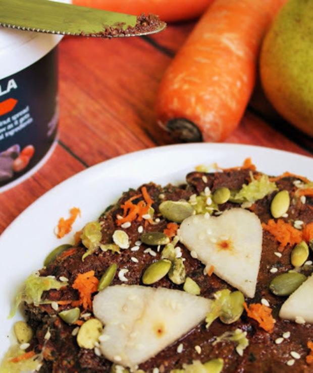 Jesienne cynamonowe racuchy z gruszką i marchewką (bez jajek, masła, mleka, cukru i glutenu, wegańskie) - Bezglutenowe
