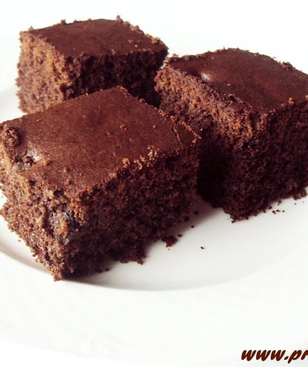 Ucierane ciasto  kakaowe z czekoladą  (bez glutenu) - Bezglutenowe