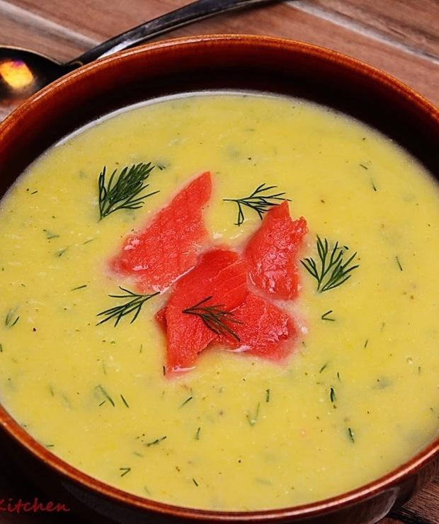 Zupa krem z pora i ziemniaków - Z mięsem
