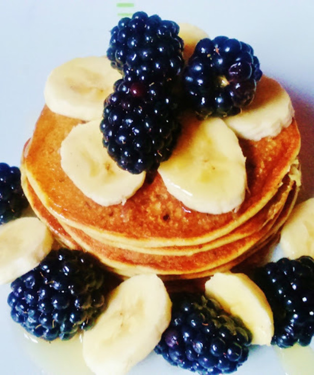 Bananowe pancakes - Placki i placuszki
