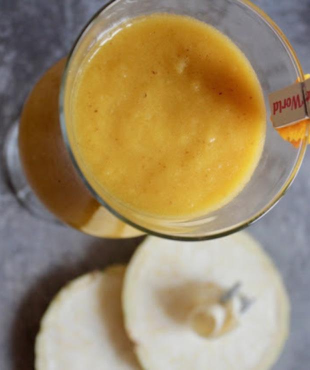 seler + pomarańcza + jabłko + pietruszka + siemię lniane - Zimne