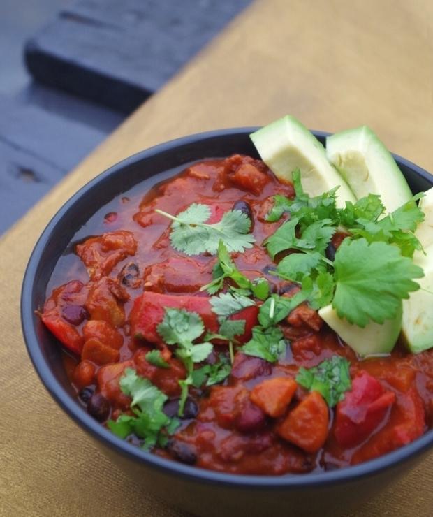 Chili sin carne z proteiną sojową - Warzywa
