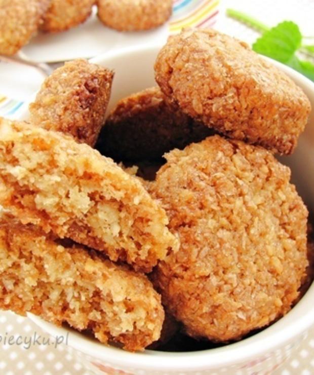 Ciastka owsiane z kokosem - Ciastka
