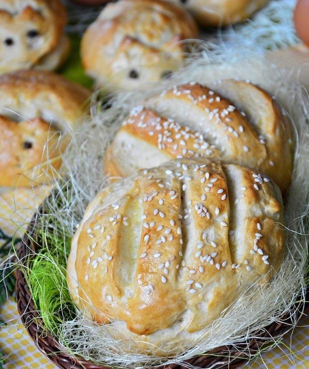 Chlebki i zajączki do koszyczka wielkanocnego - Chleby