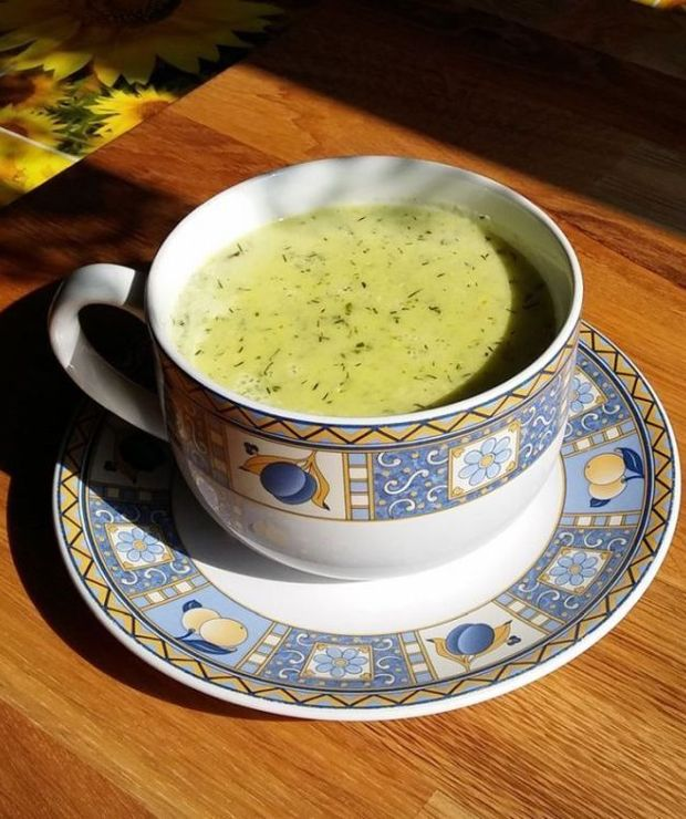 Zupa krem ze świeżych ogórków - Z warzywami