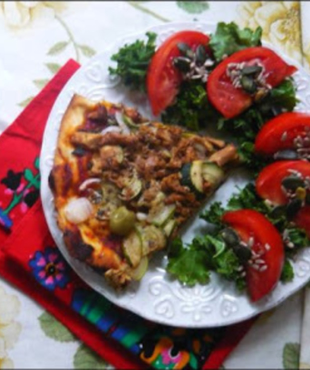 PIZZA Z KURKAMI - Pizza i calzone