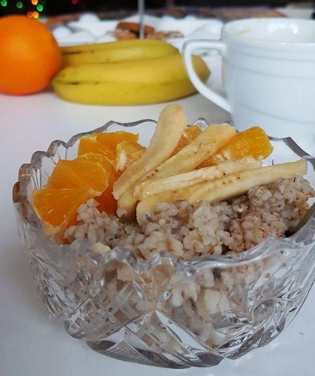Kokosowa kasza jęczmienna z prażonymi migdałami i owocami - Inne