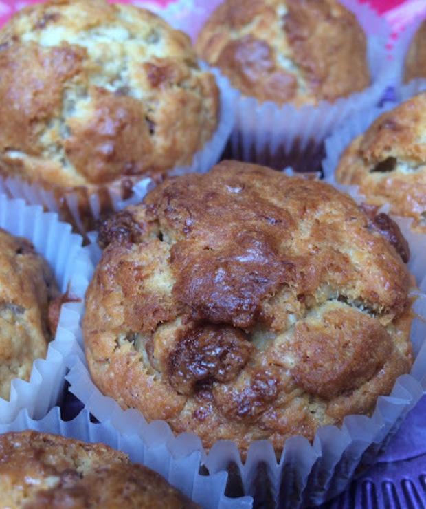 Puszyste muffinki bananowo - czekoladowe - Muffiny i babeczki