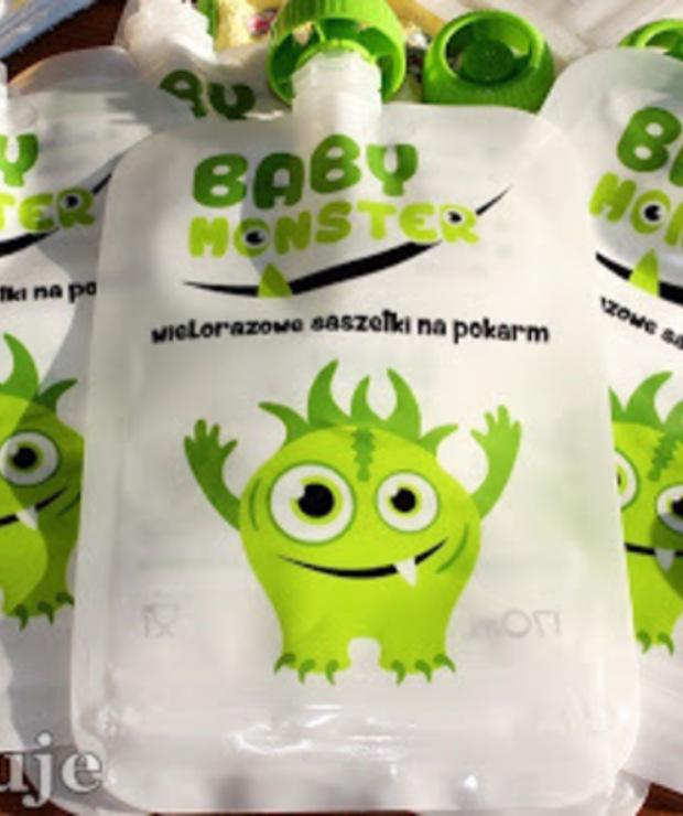 Baby Monster - wielorazowe saszetki dla pokarm dzieci - recenzja - Produkty