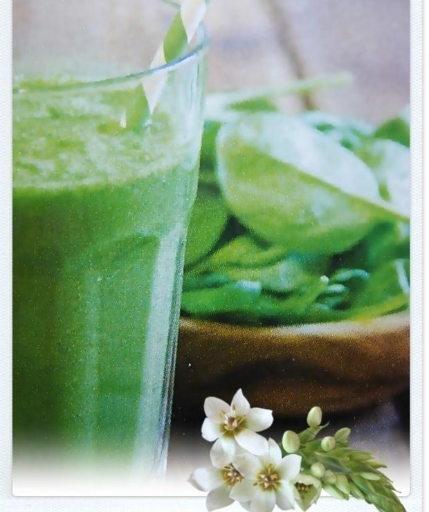 Zielony koktajl ze szpinaku - Zimne