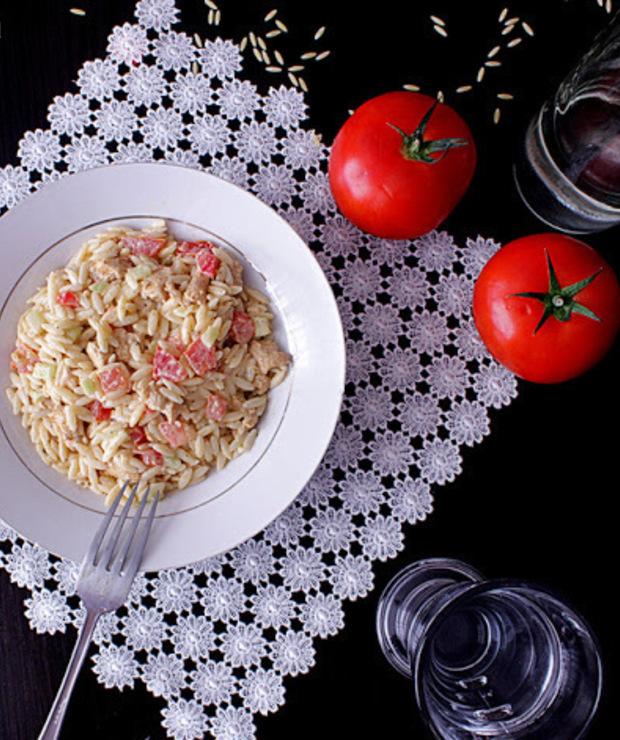Sałatka z makaronem a'la ryżowym - Mięsne