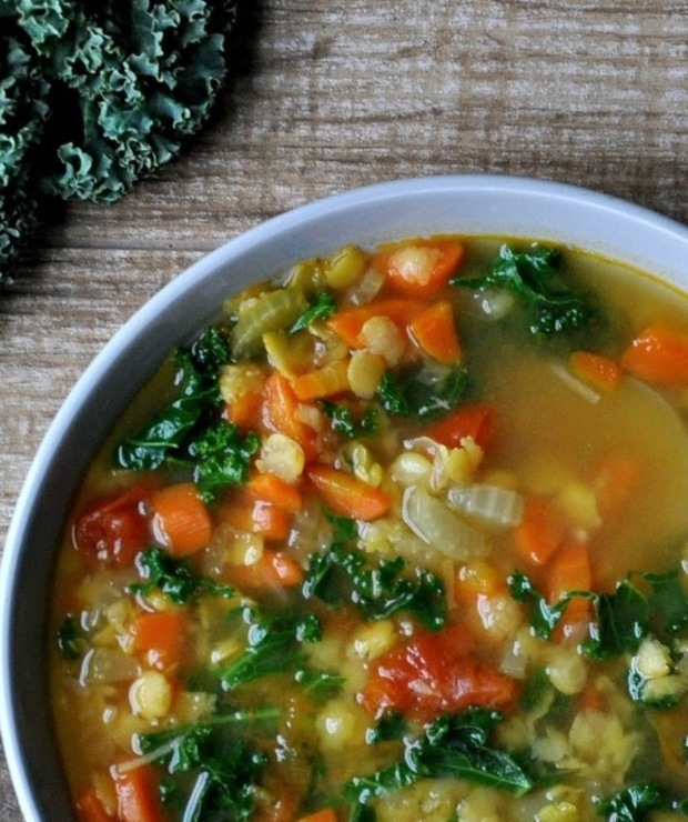 Zupa grochowa z imbirem - Z warzywami