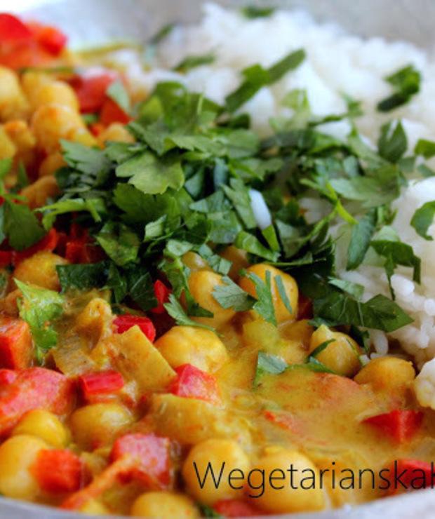 Paprykowe curry z cieciorką - Warzywa