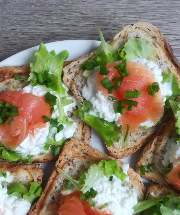 Łosoś śniadaniowy - Na zimno