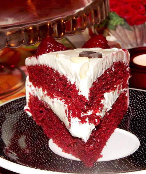 Red Velvet Cake - Ucierane