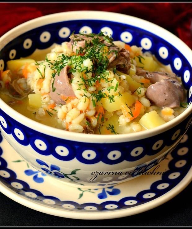 Lekka zupa z sercami - Z mięsem