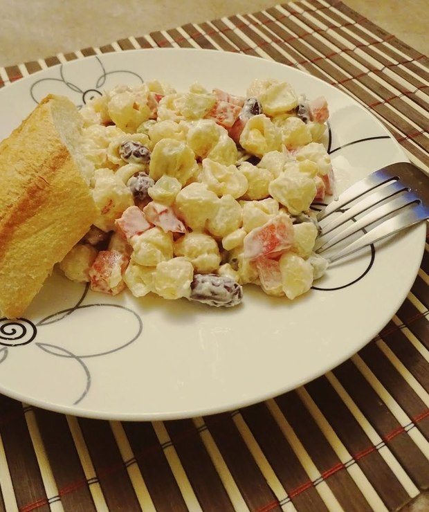 Sałatka z makaronem  - Jarskie